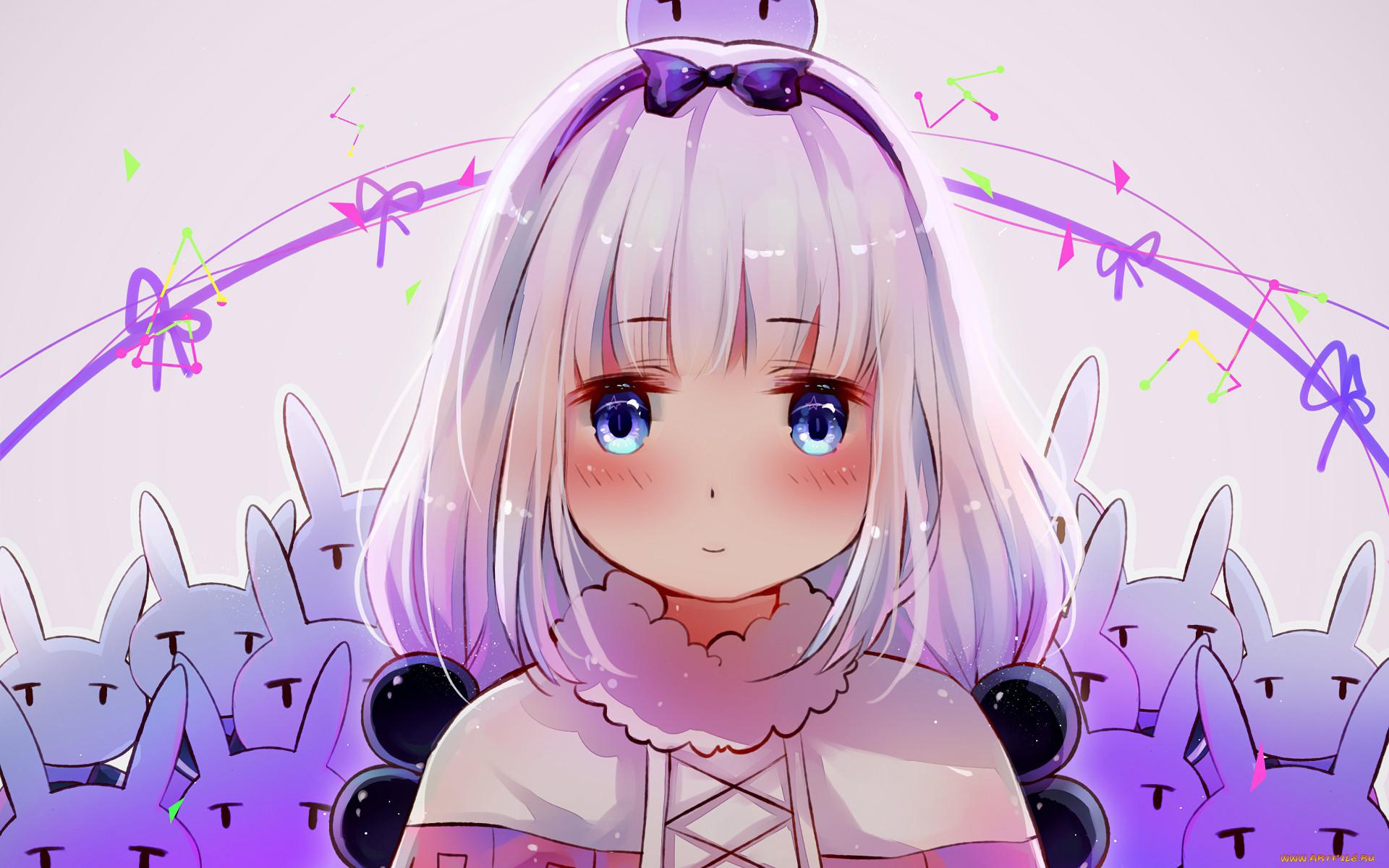 аниме, miss kobayashi`s dragon maid, девушка, взгляд, фон